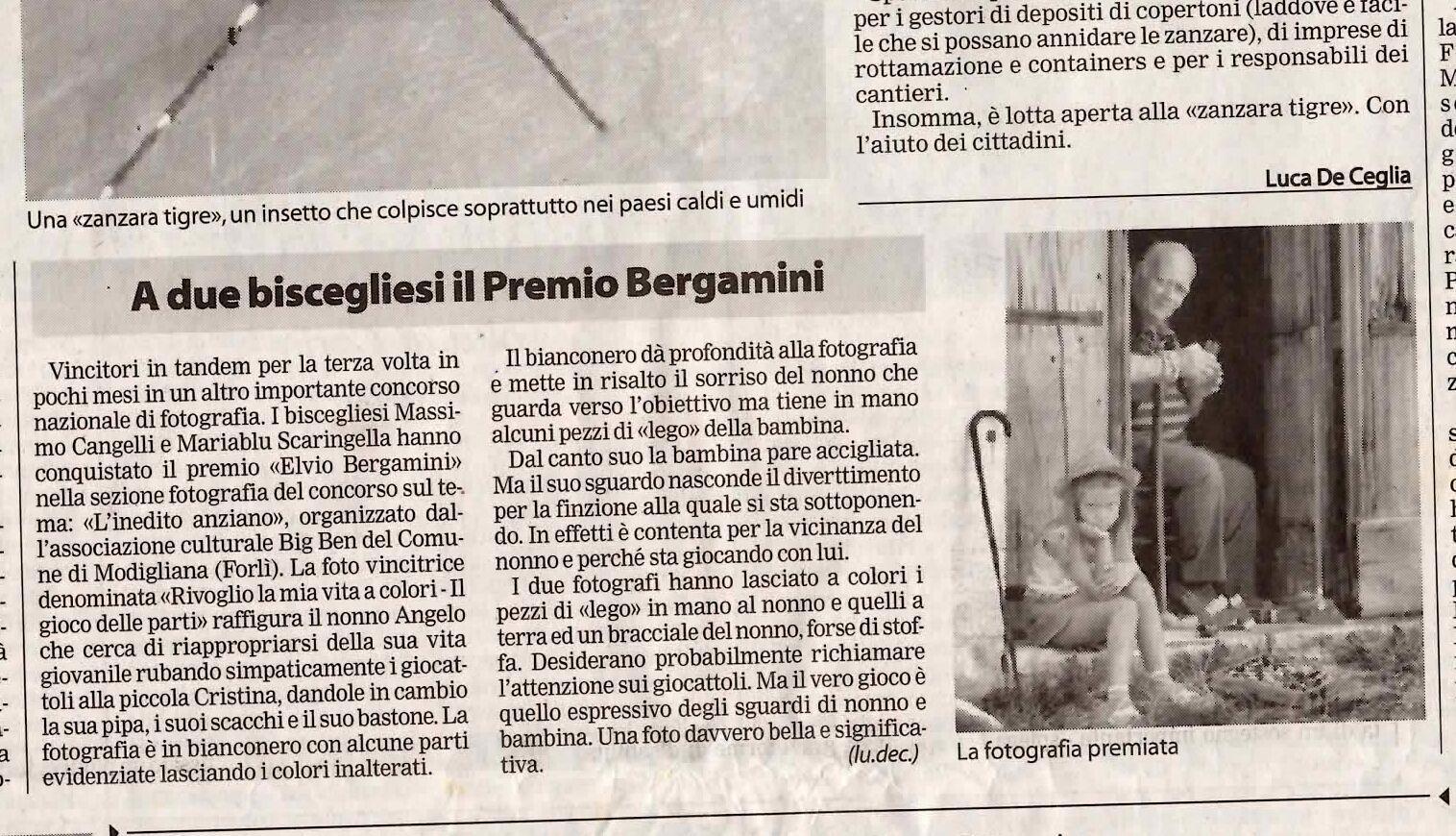 A due biscegliesi il Premio Bergamini